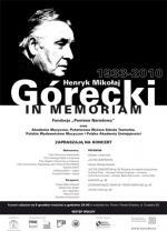 """Koncert """"Henryk Mikołaj Górecki in memoriam"""""""