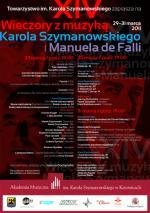 Evenings with Karol Szymanowski's Music and Manuel de Falla in Katowice