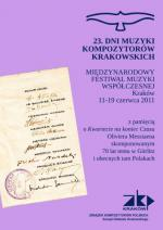 23. Dni Muzyki Kompozytorów Krakowskich