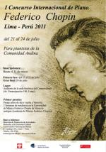 First International Piano Competition in Lima