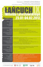 """Łańcuch IX"" - The Lutosławski Festival in the 99th Anniversary of the Composer's Birth"