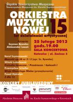 Koncert Jubileuszowy z okazji 15-lecia Orkiestry Muzyki Nowej