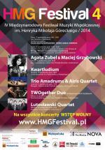 IV Międzynarodowy Festiwal Muzyki Współczesnej im. Henryka Mikołaja Góreckiego (17-26 października 2014)