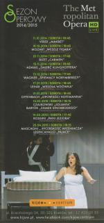 Transmisje Przedstawień z The Metropolitan Opera w Nowym Yorku