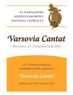 "Festiwal Chóralny ""Varsovia Cantat"""