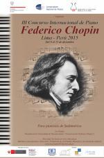 III Międzynarodowy Konkurs Pianistyczny im. Fryderyka Chopina w Limie