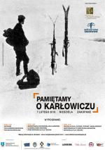 """""""Pamiętamy o Karłowiczu"""" – cykl wydarzeń poświęconych Mieczysławowi Karłowiczowi"""