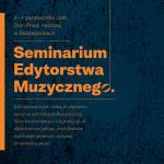 Seminarium Edytorstwa Muzycznego- wyniki rekrutacji.