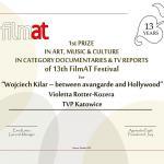 Film Violetty Rotter-Kozery nagrodzony!