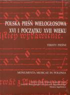 Polska pieśń wielogłosowa XVI i początku