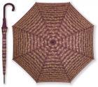 Parasol bordowy duży z motywem nutowym