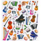 Naklejki z motywem instrumentów muzyczny