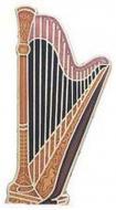 Przypinka - harfa