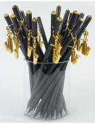 Ołówek czarny z saksofonem