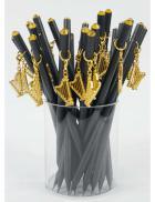 Ołówek czarny z harfą
