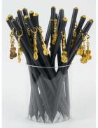 Ołówek z zawieszką - złote skrzypce