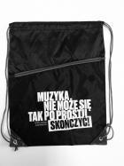 """Worek-Plecak czarny """"Cytat"""""""