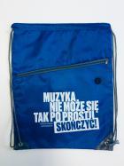 "Worek-plecak niebieski ""Cytat"""