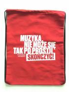 """Plecak - Worek bawełniany czerwony """"Cyta"""
