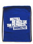 """Plecak - Worek bawełniany granatowy """"Cyt"""