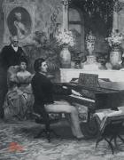"""Teczka A4 """"Chopin przy fortepianie"""""""