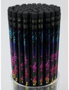 Ołówek w kolorowe klucze wiolinowe